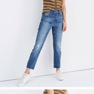 Madewell cropped boy jeans
